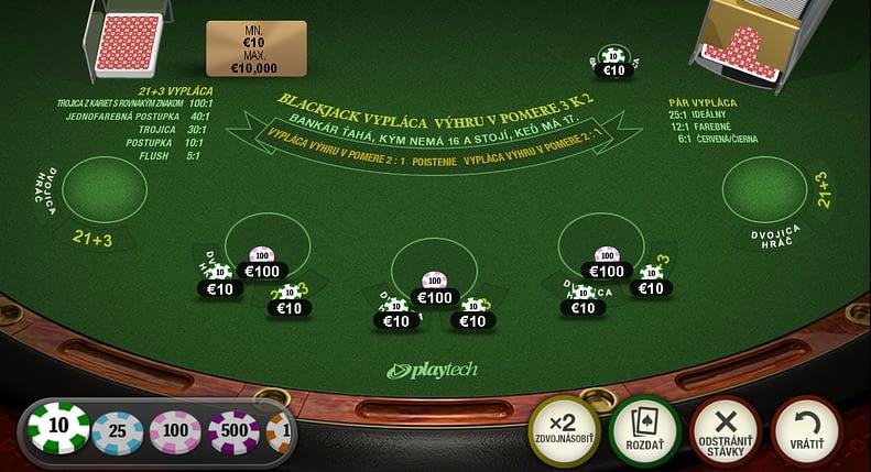 Ako hrať blackjack. Ukážka z hry Premium Blackjack.