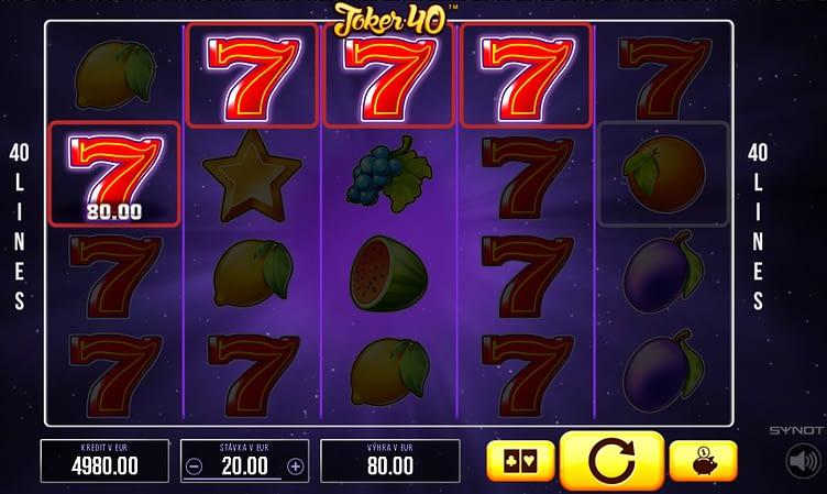Funkcie automatov – Riziko. Výherný automat Joker 40 od Synot Games