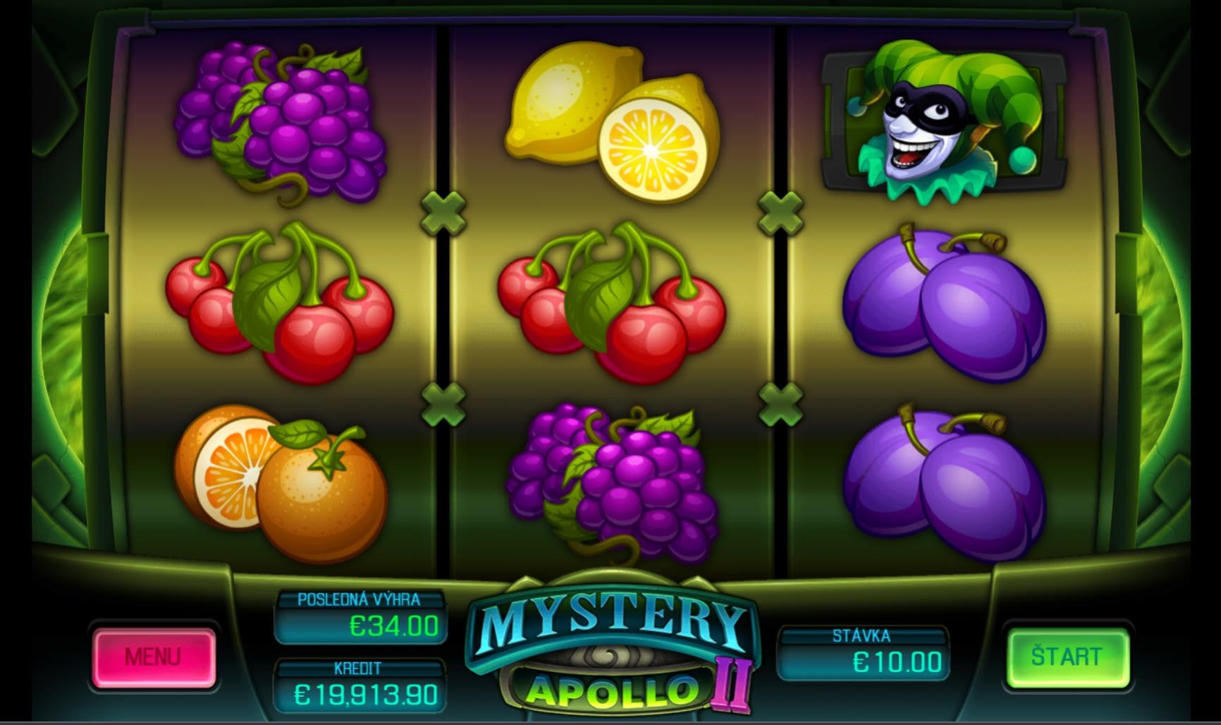 Mystery Apollo od Apollo Games v online kasíne od Fortuny.