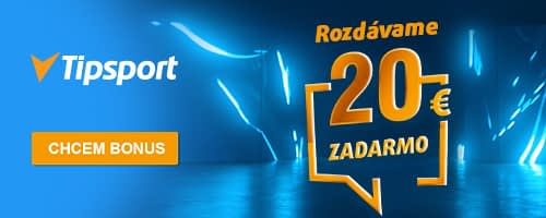 Tipsport bonus 20 EUR.