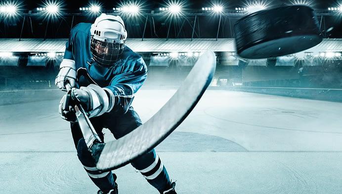 Ako tipovať hokej, hokejový hráč.