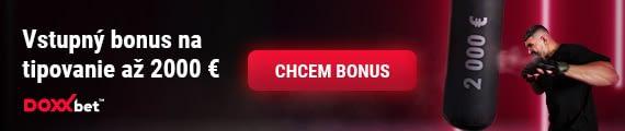 Vstupný bonus na tipovanie až 2000 EUR