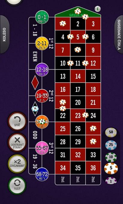 Spread-bet ruleta od Playtechu vo Fortuna Casino a Vegas.