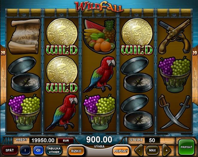 Výherný automat Wild Fall. Automaty od Adell.