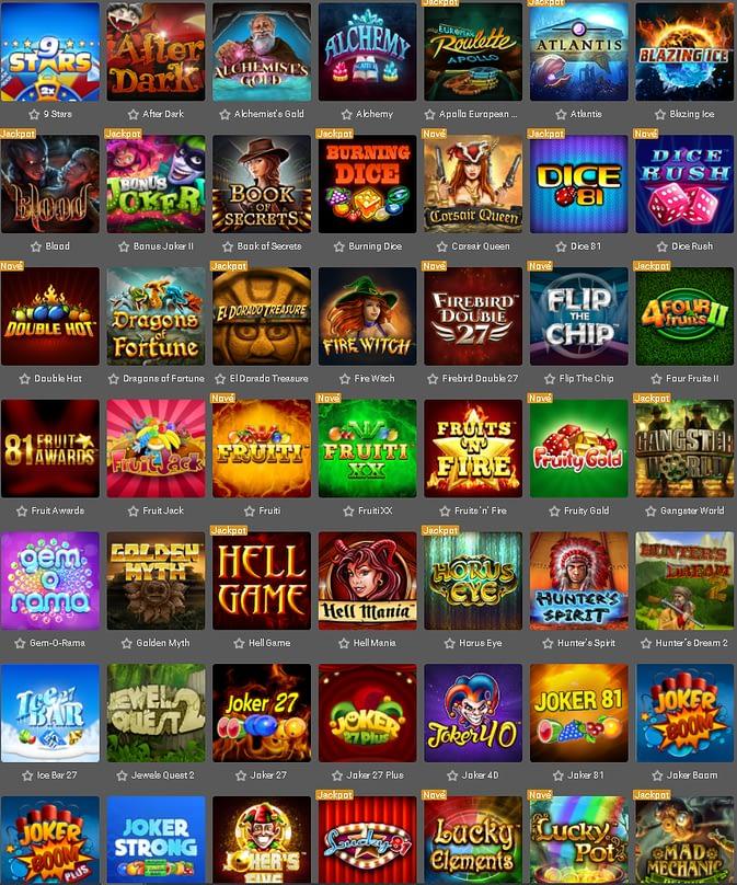 Výherné automaty v Tipsport Casino.