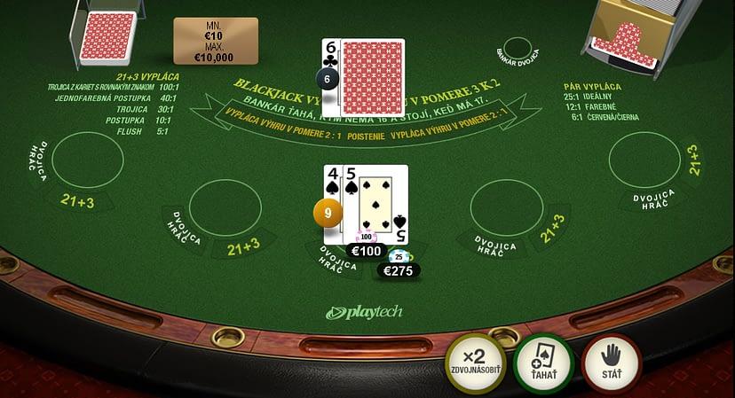 Blackjack Playtech (Postupka).